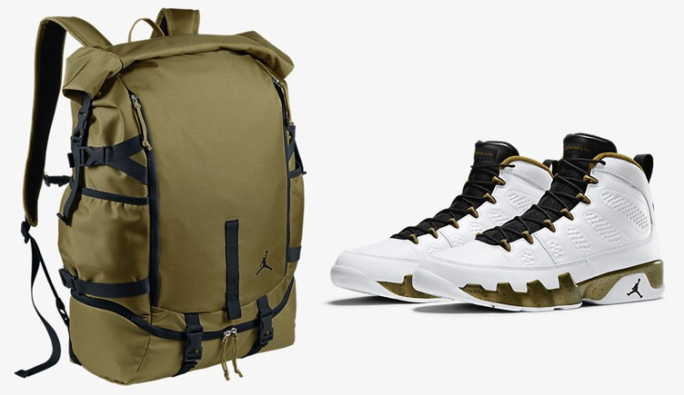 "Air Jordan 9 ""Statue"" x Jordan Jumpman Top Loader Backpack"