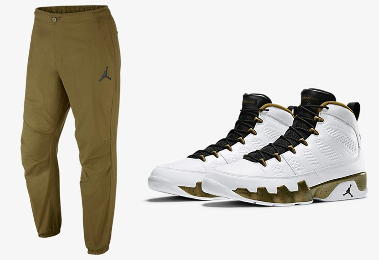 "Air Jordan 9 ""Statue"" x Jordan City Pants"