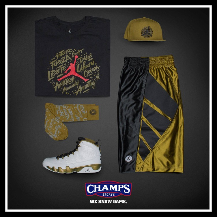 "Air Jordan 9 ""Statue"" Collection Available at Champs Sports"