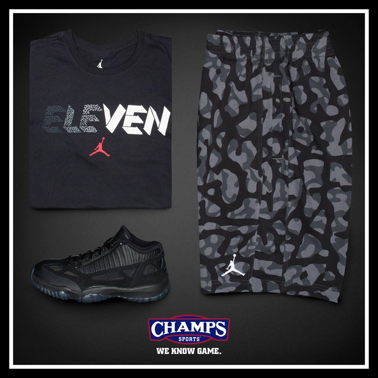 "Air Jordan 11 IE Low ""Referee"" Clothing Hook-Ups at Champs Sports"