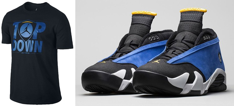 "Air Jordan 14 Low ""Laney"" x Jordan Retro 14 Top Down T-Shirt"
