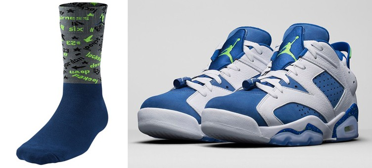 "Air Jordan 6 Low ""Insignia Blue"" x Jordan Retro 6 Low Socks"