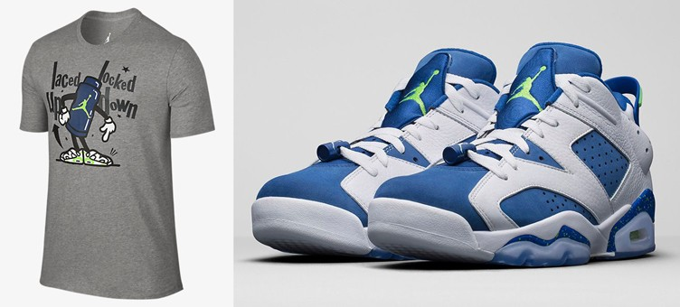 "Air Jordan 6 Low ""Ghost Green"" x Jordan Retro 6 Toggle T-Shirt"