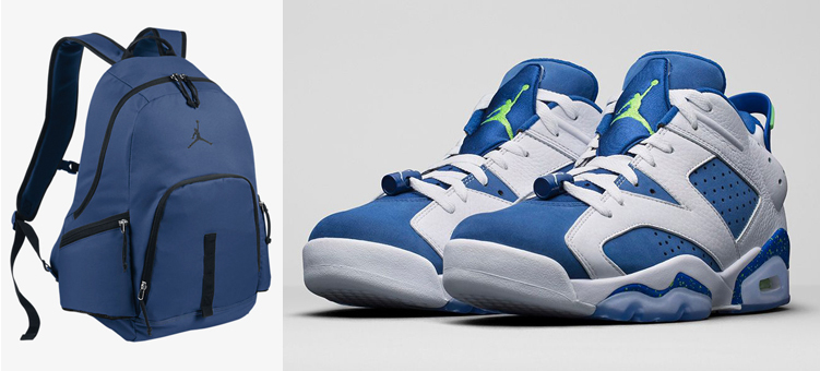 "Air Jordan 6 Low ""Insignia Blue"" x Jordan Jumpman Backpack"