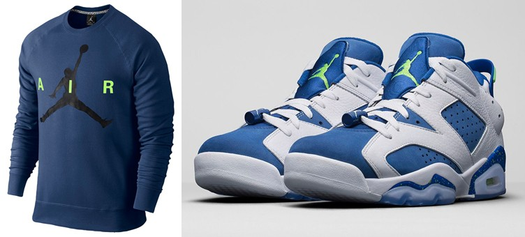 "Air Jordan 6 Low ""Insignia Blue"" x Jordan Jumpman Brushed Crew Sweatshirt"