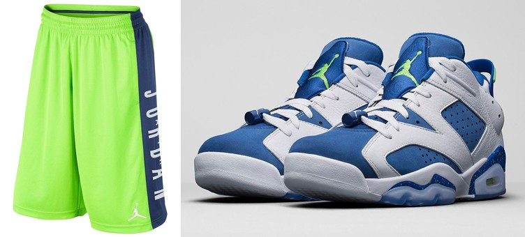 """Air Jordan 6 Low """"Insignia Blue"""" x Jordan AJ Highlight Shorts"""
