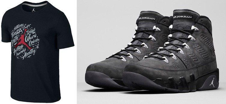 "Air Jordan 9 ""Anthracite"" x Jordan Retro 9 Worldwide T-Shirt"