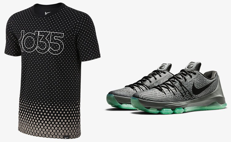 "Nike KD 8 ""Hunt's Hill Night"" x Nike KD Night T-Shirt"