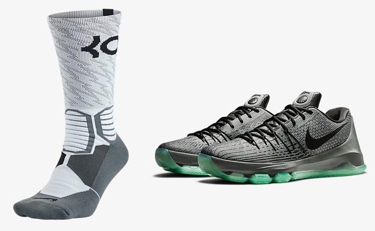 online store aabf3 da41f Nike KD 8 Hunts Hill Night Socks | SneakerFits.com