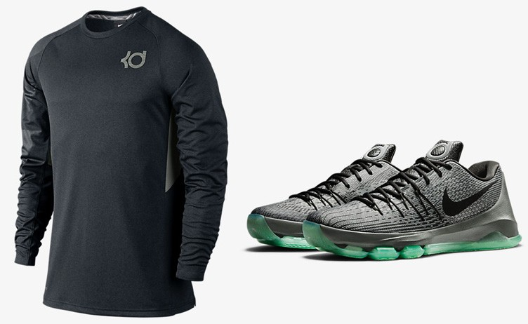 "Nike KD 8 ""Hunt's Hill Night"" x Nike KD Klutch Shooter Shirt"