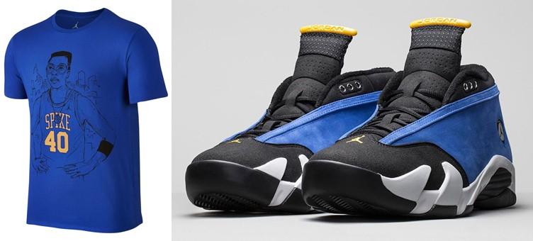 "Air Jordan 14 Low ""Laney"" x Jordan Spike 40 Player T-Shirt"