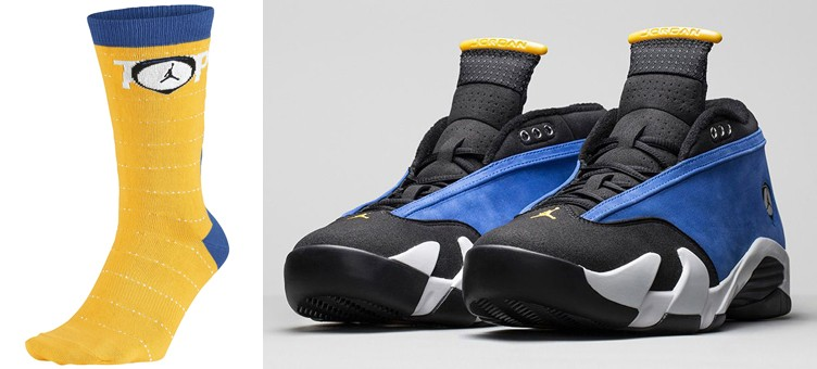 air-jordan-14-low-laney-socks