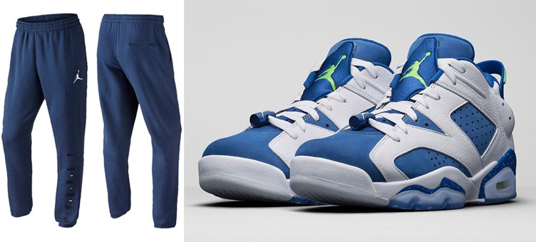 "Air Jordan 6 Low ""Insignia Blue"" x Jordan Jumpman Graphic Tapered Pants"