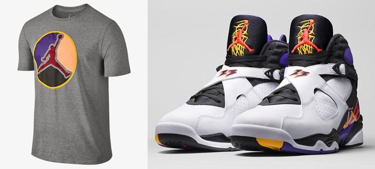 "821c291b993df6 Air Jordan 8 ""Three Time s a Charm"" x Jordan AJ VIII Always Reppin  T-Shirt"
