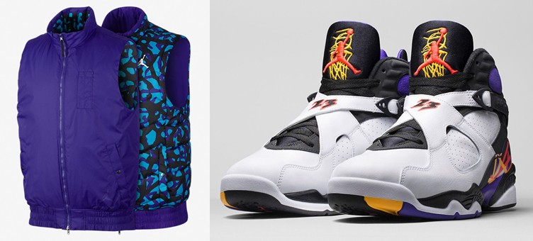 "Air Jordan 8 ""Three Time's a Charm"" x Jordan Fly Reversible Vest"