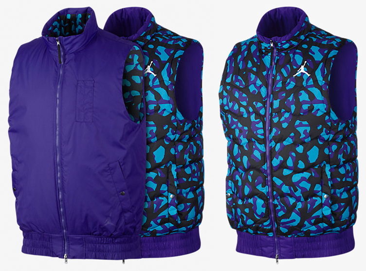 91634f5d5ff123 Air Jordan 8 Three Peat Fly Vest Jacket