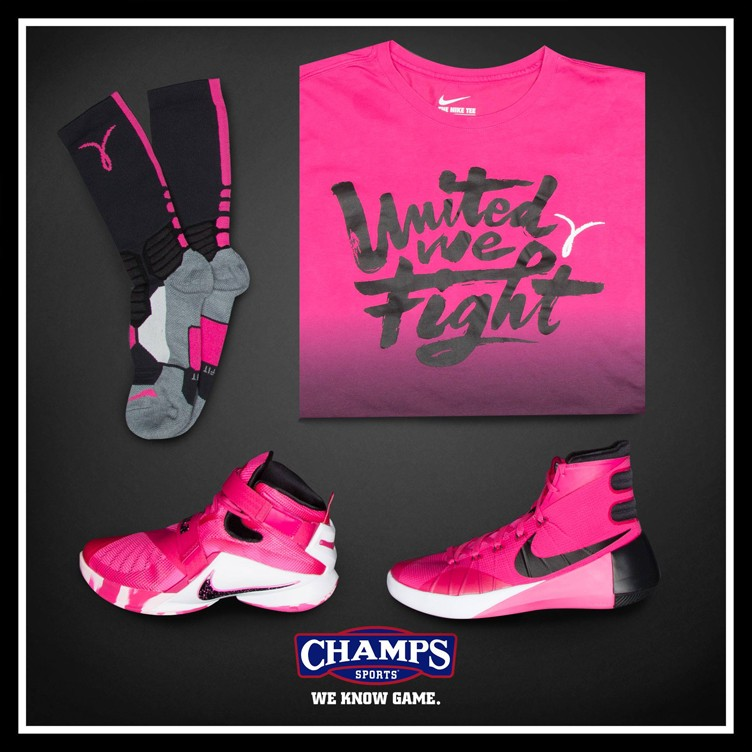 Nike Kay Yow 2015 Breast Cancer Awareness Collection at Champs Sports