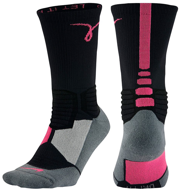 Pink Basketball Shoes Black Socks