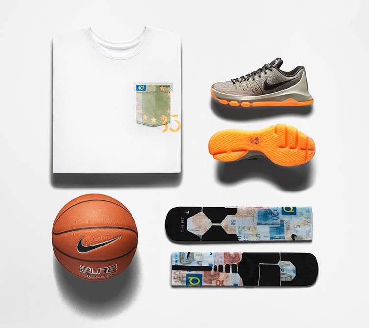 bb692c905158 Nike KD 8 Easy Euro Clothing Shirt Socks