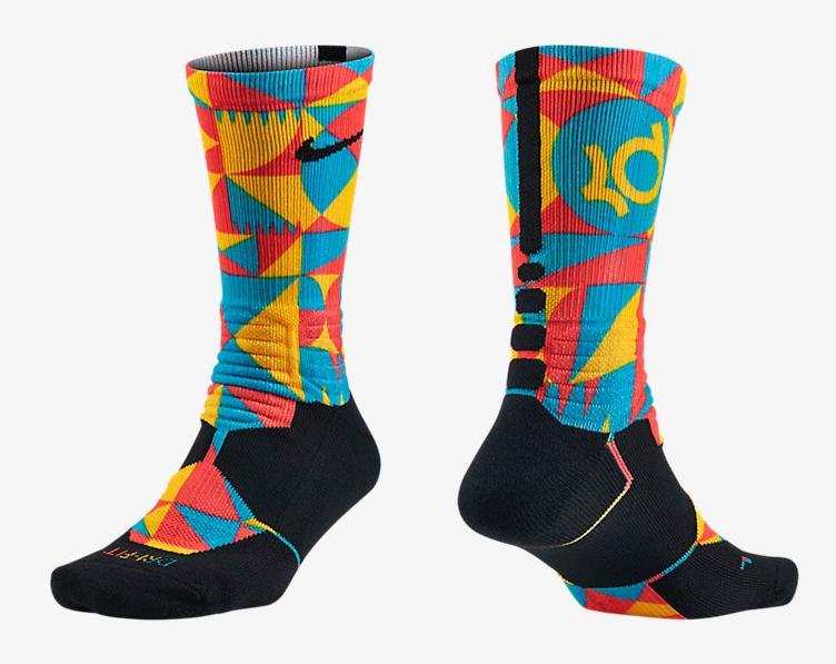 46a275b17d28 nike-kd-8-okc-thunder-socks. Nike KD Hyper Elite Digital Print Crew ...