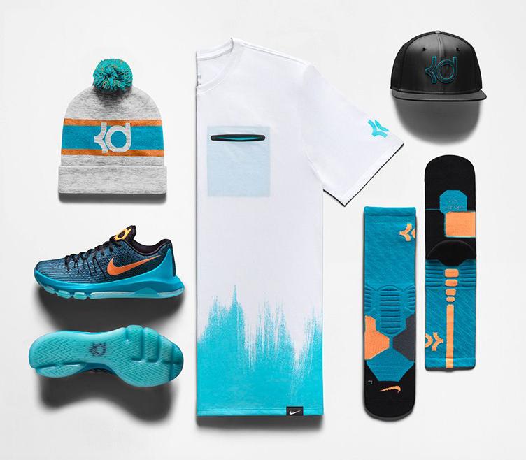 Nike kd 8 okc road game clothing for Kd t shirt nike