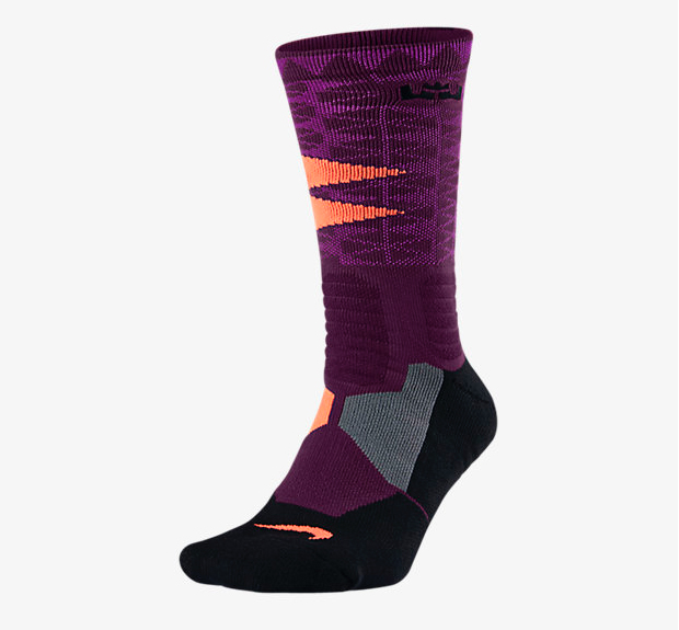 Nike LeBron 13 Socks in Purple | SneakerFits.com