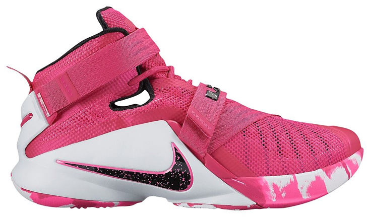 best website 0a882 efbee lebron soldier 9 breast cancer