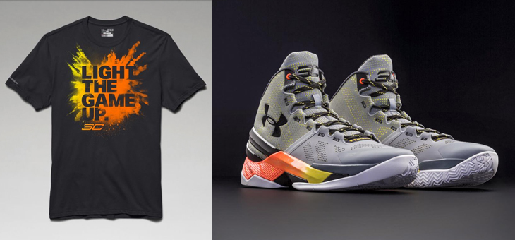 "Under Armour Curry Two ""Iron Sharpens Iron"" x SC30 ""Light the Game Up"" T-Shirt"