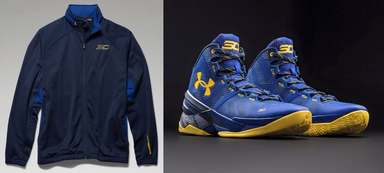 "Under Armour Curry Two ""Dub Nation"" x Under Armour SC30 Warm-Up Jacket"