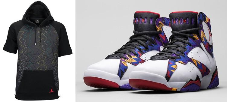 """Air Jordan 7 """"Nothing But Net"""" x Jordan Retro 7 Quilted Fleece Hoodie"""