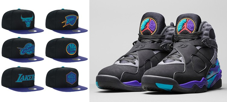 air-jordan-8-aqua-nba-hats-mitchell-and-ness