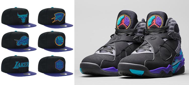 9b436874ef71ba Air Jordan 8 Aqua NBA Hats Mitchell and Ness | SneakerFits.com