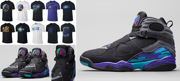 "289d0f143b880d 10 Jordan T-Shirts to Match the Air Jordan 8 Retro ""Aqua"""