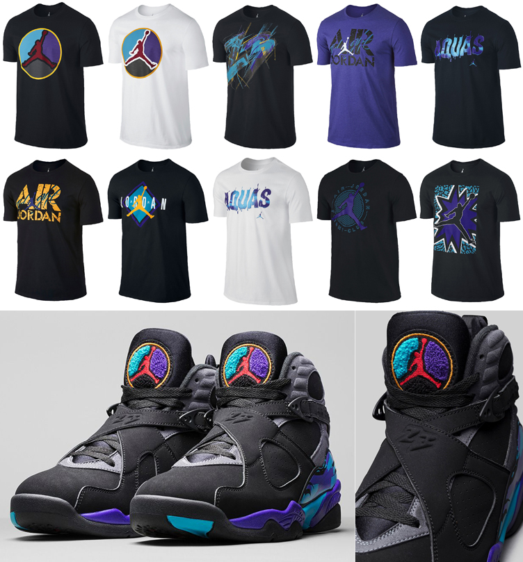 "d96a374bd92463 10 Jordan T-Shirts to Match the Air Jordan 8 Retro ""Aqua"""