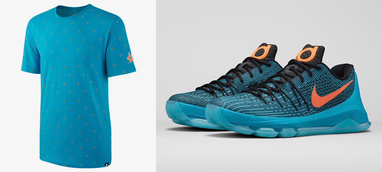Nike kd 8 road game shirt for Kd t shirt nike