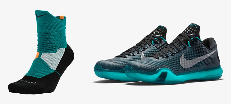 "7f817d1ce117 Nike Kobe X ""Liberty"" x Nike Hyper Elite High Quarter Basketball Socks"