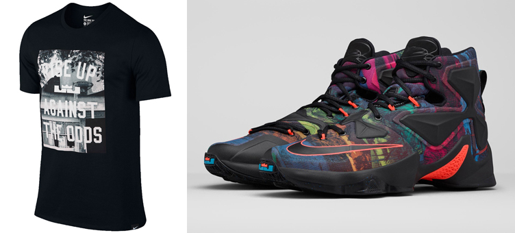 big sale 029e8 6a1aa nike-lebron-13-akronite-odds-t-shirt