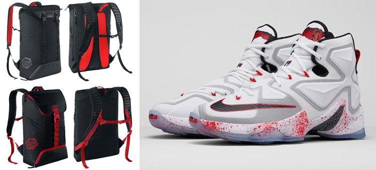 "Nike LeBron Backpacks to Match the Nike LeBron 13 ""Horror Flick"""