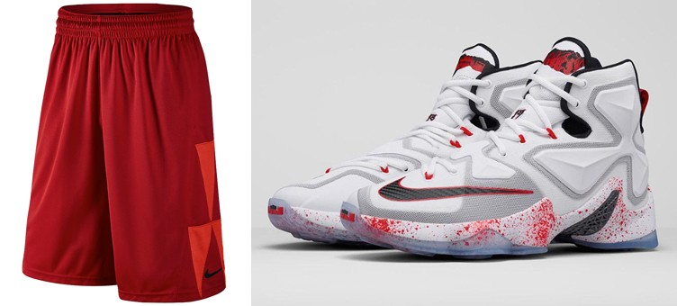 "Nike LeBron 13 ""Horror Flick"" x Nike LeBron Ultimate Essential Basketball Shorts"