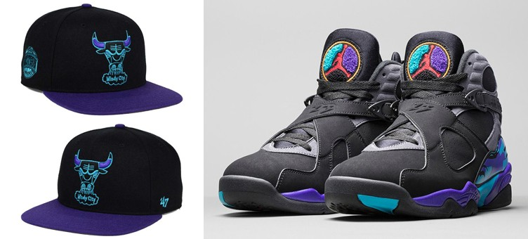 "47 Brand Chicago Bulls Aqua 8 Snapback Cap to Match the Air Jordan 8 ""Aqua"""