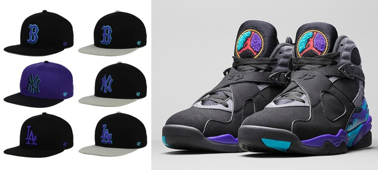 "47 Brand MLB Aqua 8 Snapback Caps to Match the Air Jordan 8 ""Aqua"""