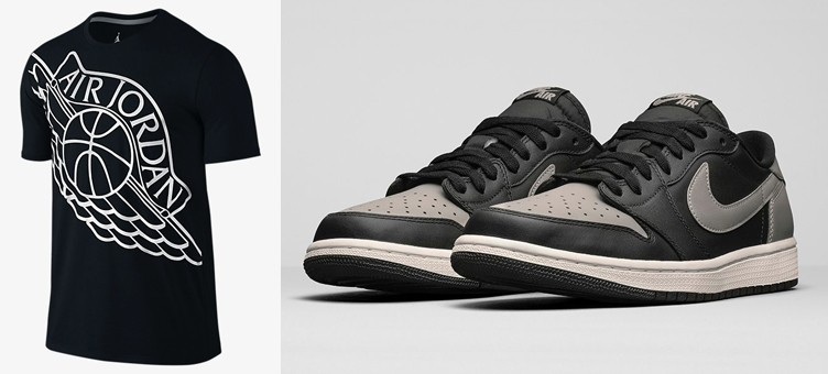 "Air Jordan 1 Retro Low OG ""Medium Grey"" x Air Jordan Wingspan T-Shirt"