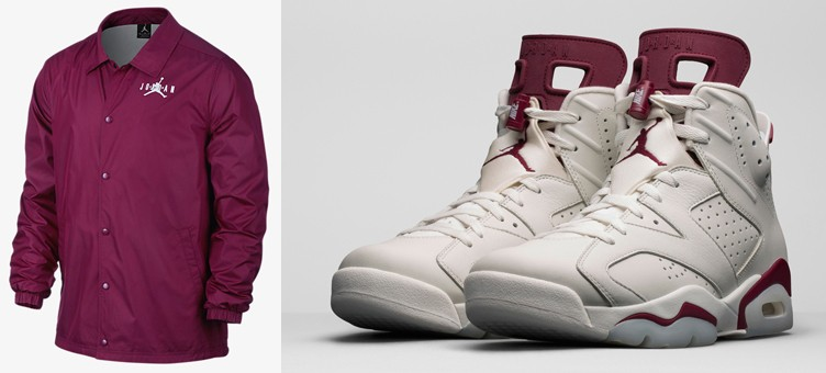 "Air Jordan 6 Retro ""Maroon"" x Jordan AJ VI Coaches Jacket"