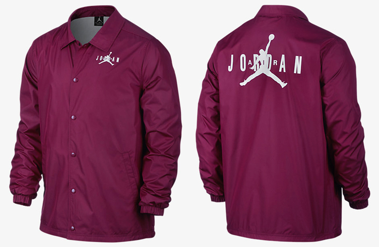 Air Jordan 6 Maroon Coaches Jacket | SneakerFits.com