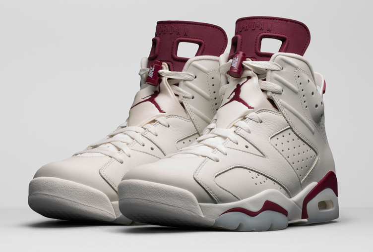 air jordan retro 6 maroon footlocker black