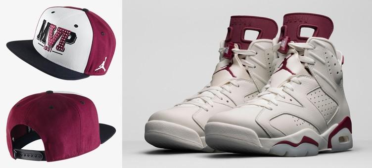 """Air Jordan 6 Retro """"Maroon"""" Snapback Hat"""