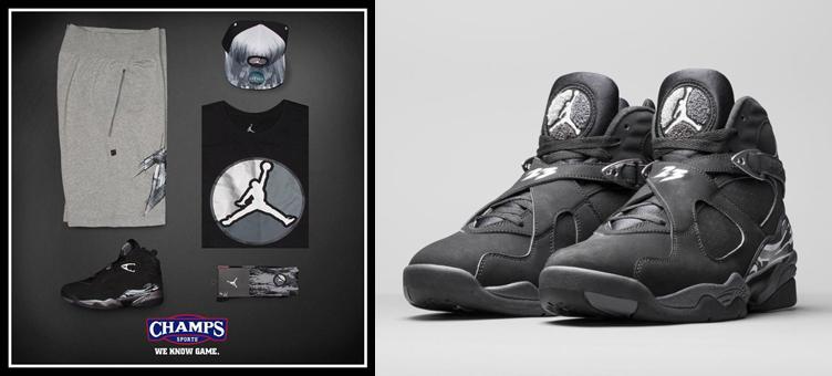 Air Jordan 8 Chrome Apparel at Champs |