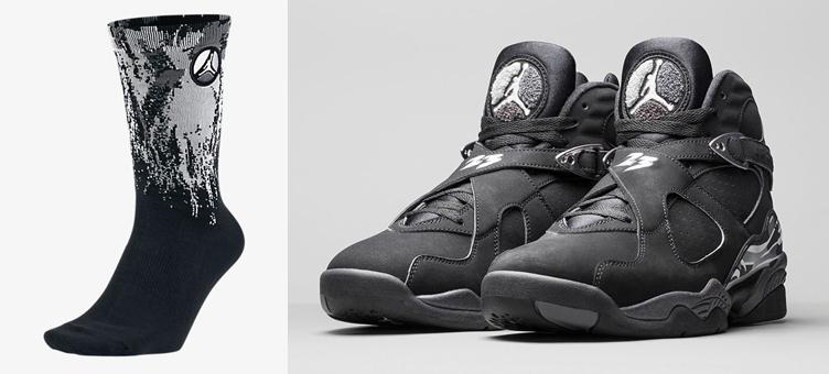 new product 00b47 3d841 Air Jordan 8 Chrome Socks | SneakerFits.com