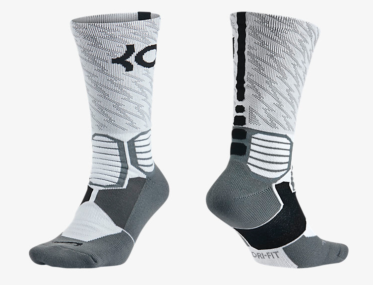 1 Pair of Black and Orange KD socks. Up for sale is a pair of 8 Nike elite socks in vary styles. 6 of the 8 are size and two of the socks are size 1 Pair Nike Hyper Elite White/Purple/Grey.