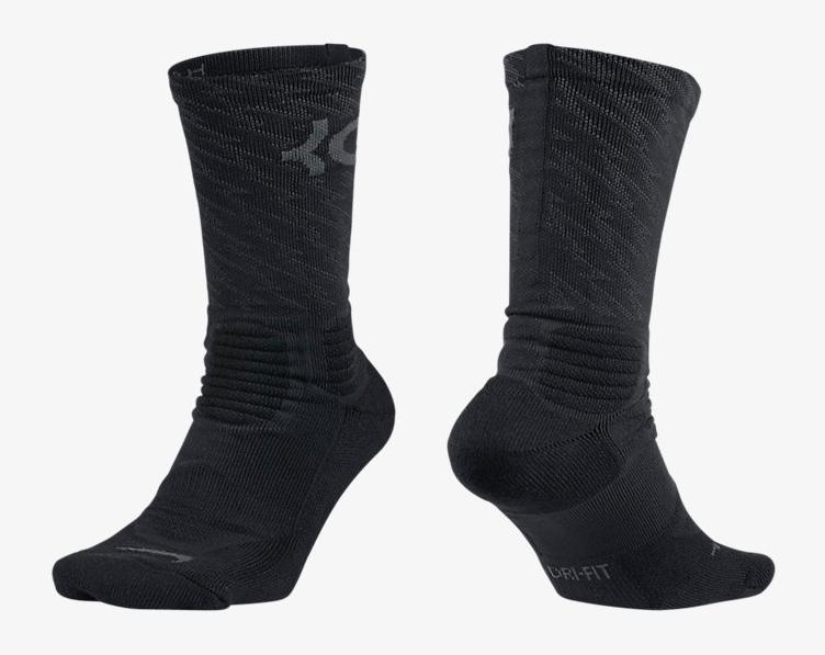 317d0be866d Nike KD 8 Blackout Triple Black Socks